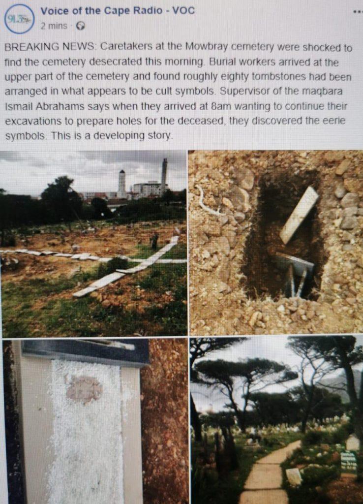 Desecration of Mowbray Muslim Cemetery